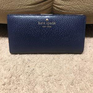 Kate Spade navy blue Grand Street Stacy wallet